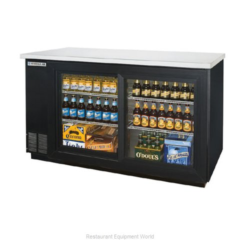 Beverage Air BB58GS-1-B Backbar Cabinet Refrigerated
