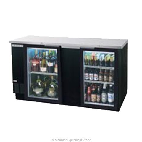 Beverage Air BB68G-1-B Backbar Cabinet Refrigerated