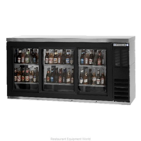 Beverage Air BB72GSY-1-B Back Bar Cabinet, Refrigerated