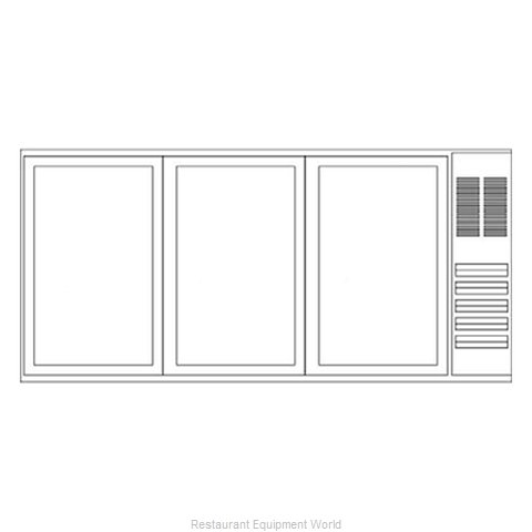 Beverage Air BB72YF-1-B-PT Backbar Cabinet Refrigerated