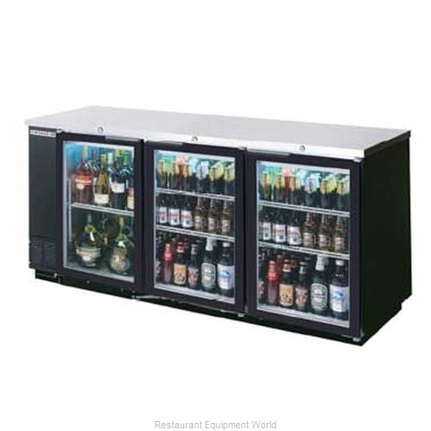 Beverage Air BB78G-1-B-PT Backbar Cabinet Refrigerated
