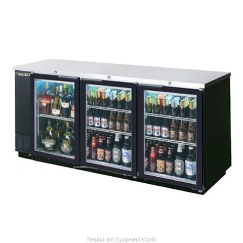 Beverage Air BB78G-1-B Backbar Cabinet Refrigerated