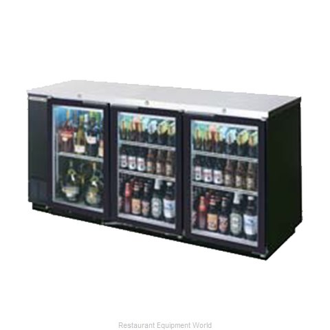Beverage Air BB78GF-1-B-PT Backbar Cabinet Refrigerated (Magnified)