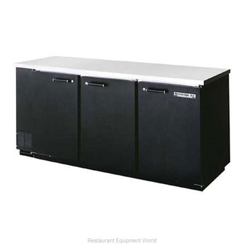 Beverage Air BB78R-1-B Backbar Cabinet Refrigerated