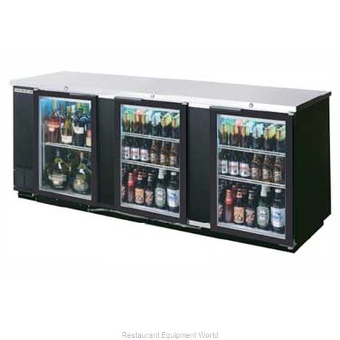 Beverage Air BB94G-1-B-PT Backbar Cabinet Refrigerated (Magnified)