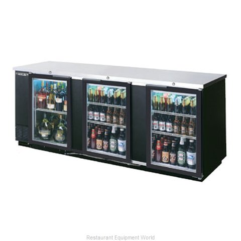 Beverage Air BB94G-1-B Backbar Cabinet Refrigerated (Magnified)