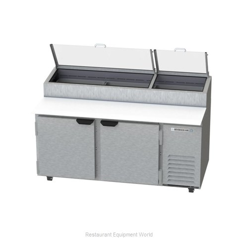 Beverage Air DP67-CL Refrigerated Counter, Pizza Prep Table