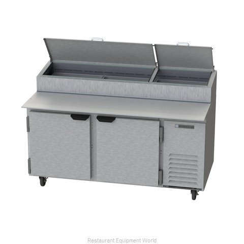 Beverage Air DP67 Pizza Prep Table Refrigerated