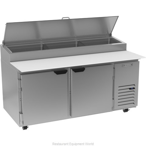 Beverage Air DP67HC Refrigerated Counter, Pizza Prep Table