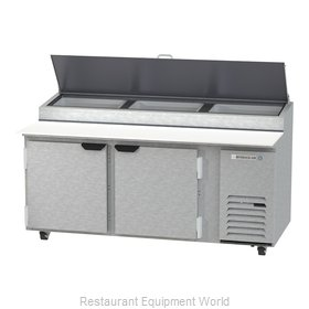 Beverage Air DP72HC Refrigerated Counter, Pizza Prep Table
