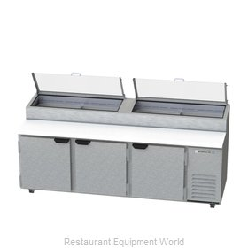 Beverage Air DP93-CL Refrigerated Counter, Pizza Prep Table