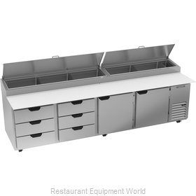 Beverage Air DPD119HC-6T Refrigerated Counter, Pizza Prep Table