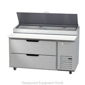 Beverage Air DPD60HC-2 Refrigerated Counter, Pizza Prep Table