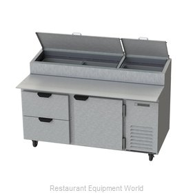 Beverage Air DPD67-2 Refrigerated Counter, Pizza Prep Table