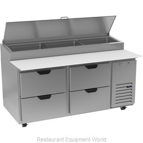 Beverage Air DPD67HC-4 Refrigerated Counter, Pizza Prep Table