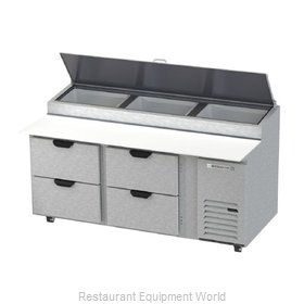 Beverage Air DPD72HC-4 Refrigerated Counter, Pizza Prep Table