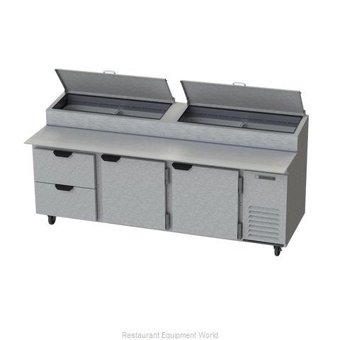 Beverage Air DPD93-2 Refrigerated Counter, Pizza Prep Table