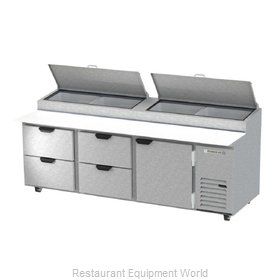 Beverage Air DPD93HC-4 Refrigerated Counter, Pizza Prep Table
