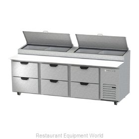 Beverage Air DPD93HC-6 Refrigerated Counter, Pizza Prep Table