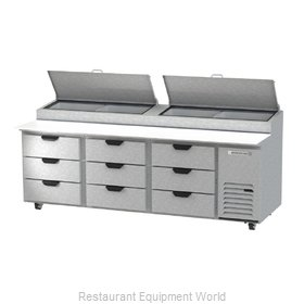 Beverage Air DPD93HC-9 Refrigerated Counter, Pizza Prep Table