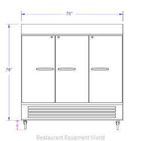Beverage Air HBR72-1-G-LED-WINE Refrigerator, Wine, Reach-In