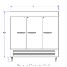 Beverage Air HBR72-1-G-WINE Refrigerator Wine Reach-In