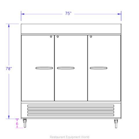 Beverage Air HBR72HC-1-WINE Refrigerator, Wine, Reach-In