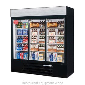 Beverage Air LV66Y-1-B-LED Refrigerator Merchandiser