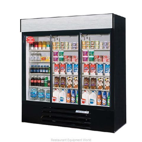 Beverage Air LV72Y-1-B-LED Refrigerator Merchandiser (Magnified)