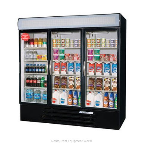 Beverage Air MMF72-5-W-LED Freezer Merchandiser (Magnified)