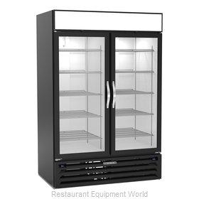 Beverage Air MMRF49HC-1-A-BW Refrigerator Freezer Merchandiser