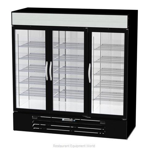 Beverage Air MMRF72HC-1-A-BW Refrigerator Freezer Merchandiser