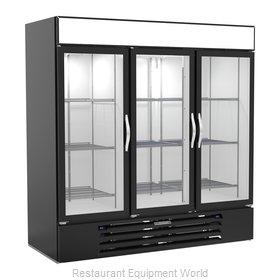 Beverage Air MMRF72HC-1-B-BW Refrigerator Freezer Merchandiser
