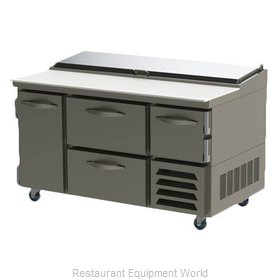 Beverage Air RRPD60 Refrigerated Counter, Pizza Prep Table