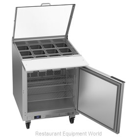 Beverage Air SPE27HC-12M-B-CL Refrigerated Counter, Mega Top Sandwich / Salad Un