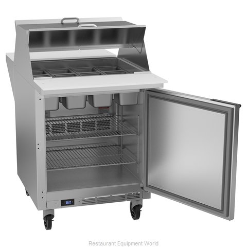 Beverage Air SPE27HC-12M-B-DS Refrigerated Counter, Mega Top Sandwich / Salad Un