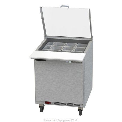 Beverage Air SPE27HC-12M-CL Refrigerated Counter, Mega Top Sandwich / Salad Unit