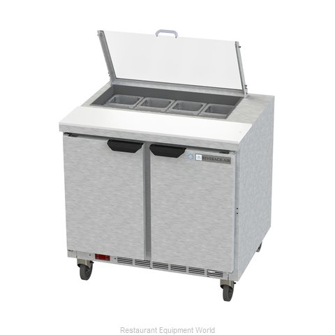 Beverage Air SPE36HC-08-CL Refrigerated Counter, Sandwich / Salad Top
