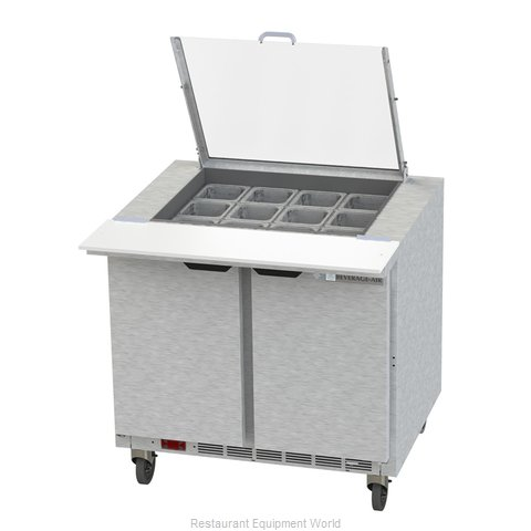 Beverage Air SPE36HC-12M-CL Refrigerated Counter, Mega Top Sandwich / Salad Unit