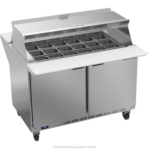Beverage Air SPE48HC-18M-DS Refrigerated Counter, Mega Top Sandwich / Salad Unit