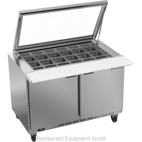 Beverage Air SPE48HC-18M-STL Refrigerated Counter, Mega Top Sandwich / Salad Uni
