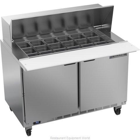 Beverage Air SPE48HC-18M Refrigerated Counter, Mega Top Sandwich / Salad Unit