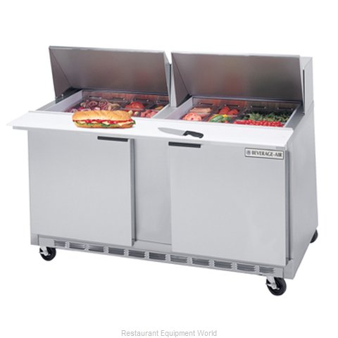 Beverage Air SPE60-18M Refrigerated Counter, Mega Top Sandwich / Salad Unit