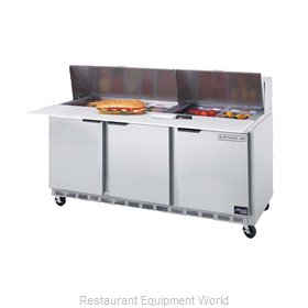 Beverage Air SPE72-18 Refrigerated Counter, Sandwich / Salad Top