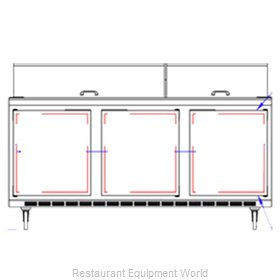Beverage Air SPE72-30M-DS Sandwich Unit