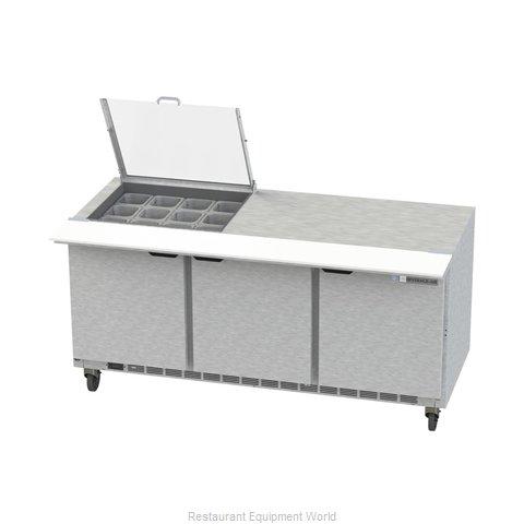 Beverage Air SPE72HC-12M-CL Refrigerated Counter, Mega Top Sandwich / Salad Unit