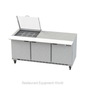 Beverage Air SPE72HC-12M-CL Refrigerated Counter, Mega Top Sandwich / Salad Unit