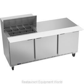 Beverage Air SPE72HC-12M Refrigerated Counter, Mega Top Sandwich / Salad Unit