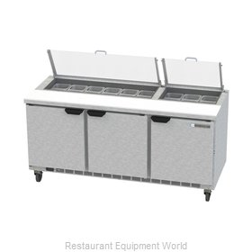 Beverage Air SPE72HC-18-CL Refrigerated Counter, Sandwich / Salad Top