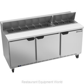 Beverage Air SPE72HC-18 Refrigerated Counter, Sandwich / Salad Top